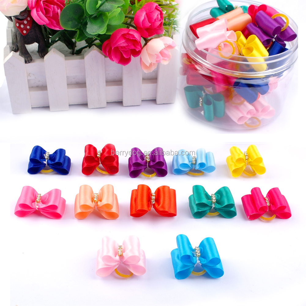 Multi Color Handmade Grooming Bows Wholesale Dog Hair Bows