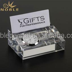 Custom Crystal Desk Clocks Paperweights