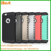 iBest aluminium bumper plastic material pc tpu hybrid shockproof hard mobile phone case for iphone 6