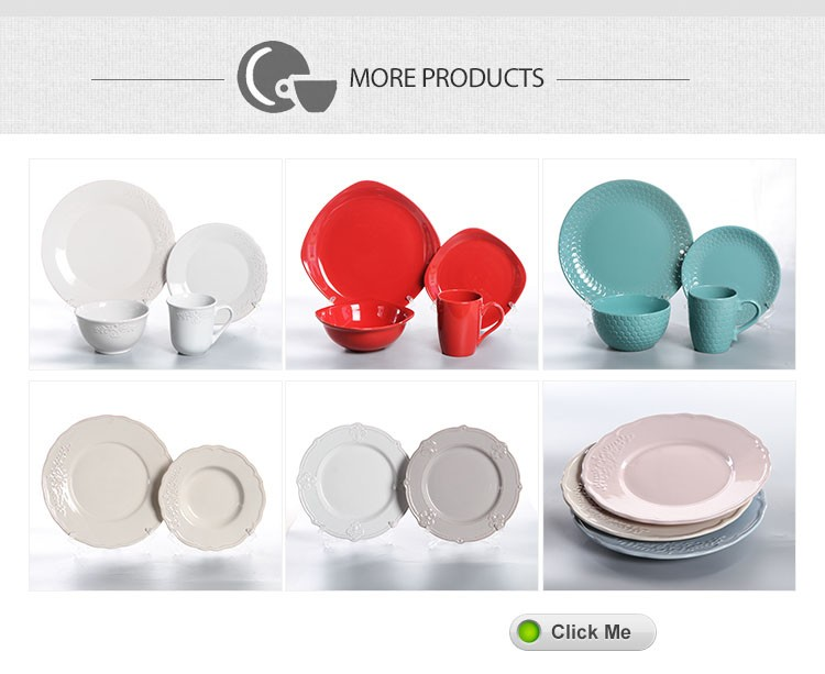 Colorful cheap price stock 16 pcs dinnerware set