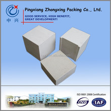 cordierite mullite honeycomb ceramic monolith heat storage exchanger ceramic substrates block for HTAC / RTO