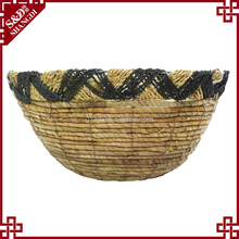S&D Home hanging baskets wholesale , decorative garden outdoor hanging flower pots , weaving round ceramic planters