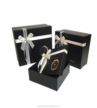 Elegant design paper cardobard ribbon tie gift box for hair extension