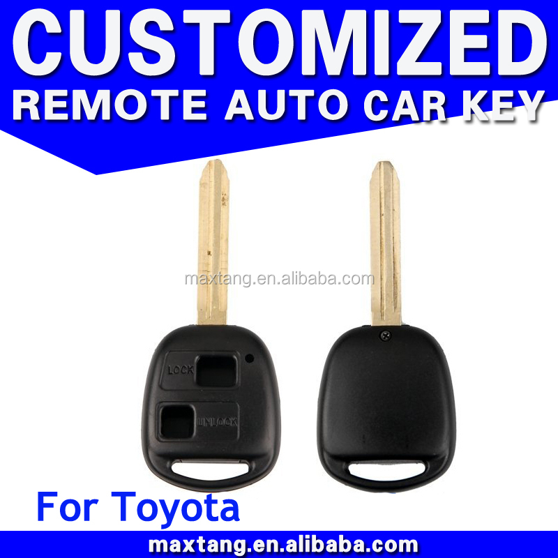 2 Buttons Remote Uncut Blade Flip Fob Car Key Shell Case for 2007-2010 TOYOTA Yaris
