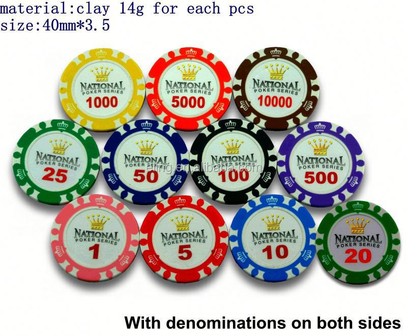 14 Gram Colorful Clay Poker Chips round wooden usb