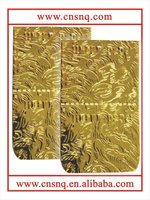 PET metallized paper gold color