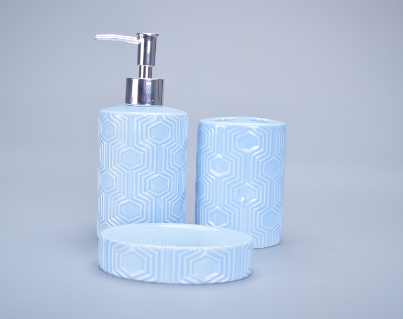 Hot sale light blue glazed brand name bathroom accessories for Light blue bathroom decor