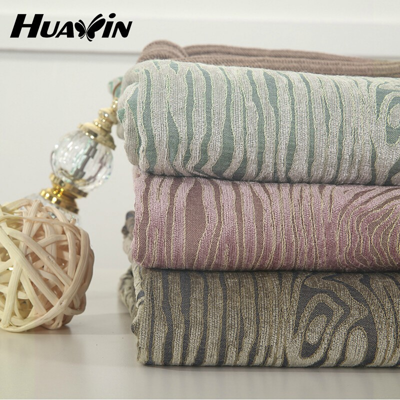 100% polyester Hot Sell 2015 New Products Best Selling Yarn Dyed jacquard fabric curtain chenille wide