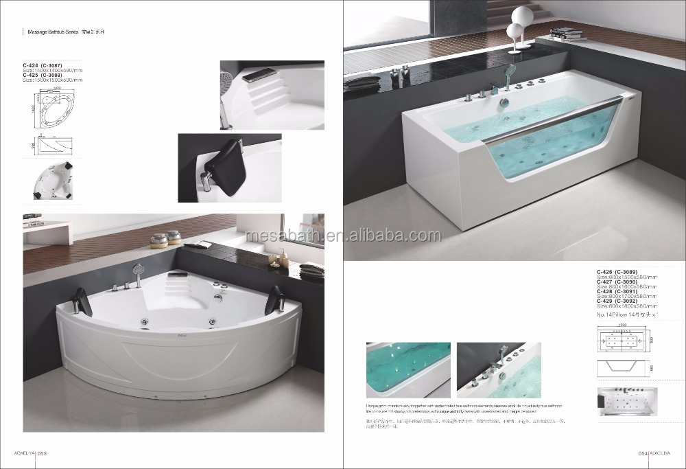 whirlpool bath Solid Surface Tubs with bubble generator jetted bathtubs