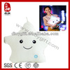 Sedex BSCI audit factory stuffed white plush toy star shaped led pillow