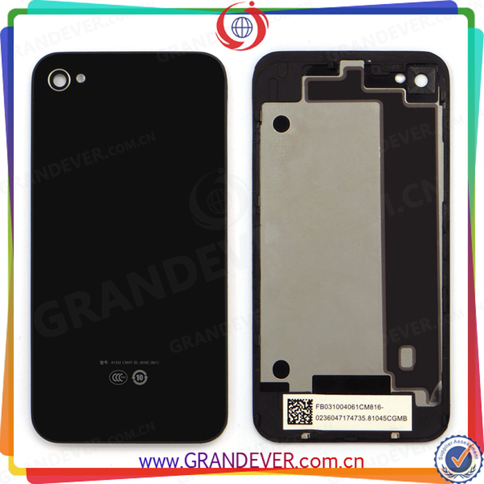 Original black replacement battery cover for iphone 4 housing OEM