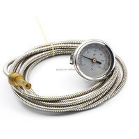 0-120 degrees celsius stainless steel thermometer with copper sensor, water bolier temperature gauge , TEMP