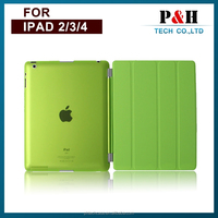 Magnetic stand smart cover leather case for ipad 2/3/4