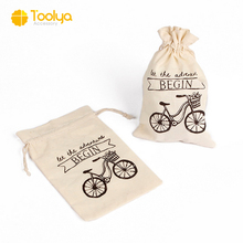 factory wholesale custom canvas cotton muslin drawstring bags for gifts