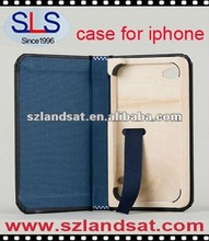 latest Leather case for iphone, hot sale leather/wooden case for iphone 4, SLS-IPC551