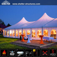 Luxury mixed pagoda party tents for sale