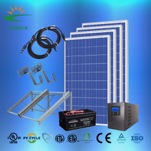 ZJSOLA 1000W off-grid solar power system, high quality TUV CE approved 1000W Off-Grid PV Solar panel system/Solar power system