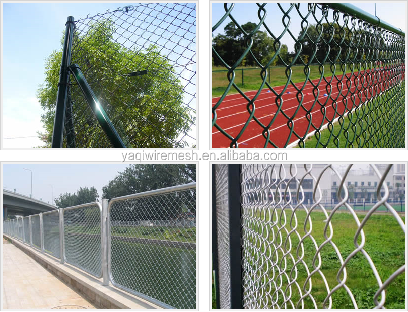 Cheap guage wire black vinyl chain link fencing
