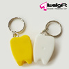 Plastic Tooth shape Keychain Mini tooth shaped dental floss