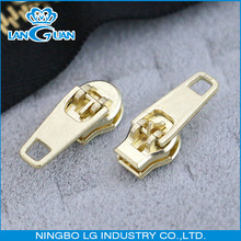 3# 4# 5# YG gold brass metal zipper slider for jeans