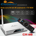 Cloudnetgo CR18S RK3368 Octa core TV BOX Android5.1 64 bit XBMC Kodi loaded 2G ROM 16G RAM Dual wifi 4Kandroid media player