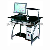GX-228 Black Steel wooden Computer table, office furniture