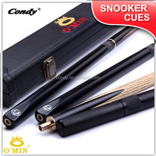 O'MIN Wholesale 9.5mm classic handmade black ebony cue snooker supplies