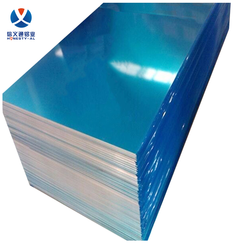 3xxx aluminum plate with blue film aluminum anti-slip plate