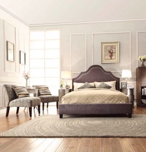 new design tall headboard platform bed with slatsking bedroom furniture