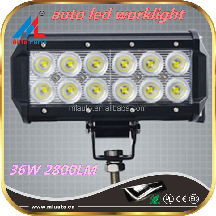 High performance 36w ambulance 4x4 led light bars 2800lm ce led headlights for bar