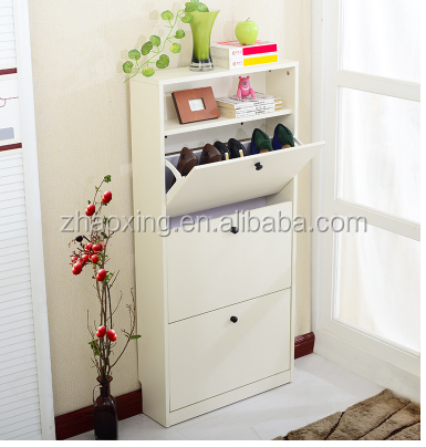 3 doors wooden shoe cabinet