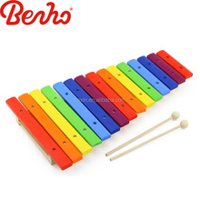 Wooden musical instruments children color 15 scales xylophone Wholesale toy