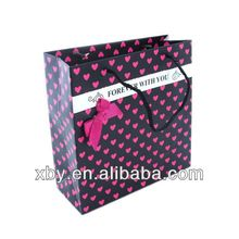 cheap small paper gift bags/ paper bag rope handle