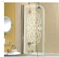 Golden Stainless Steel/ Aluminum Frame Folding Shower Screen Door