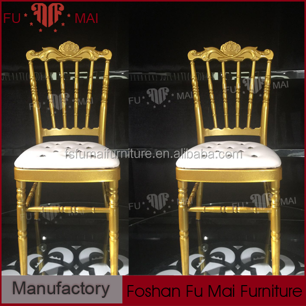 Latest modern new design china wholesale cheap sale gold chair banquet chair