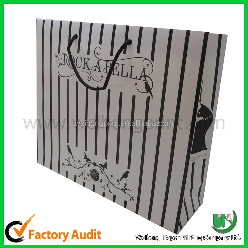 decorative high quantity custom made paper shopping bag supplied by Dongguan