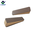 Home premium door stopper, Amazon hot sell wooden door stoppers, brown