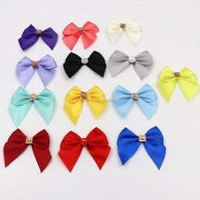 All kinds Satin Ribbon Bow tie with diamond