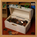 Wholesales handmade unfinished small wooden coins storage boxes