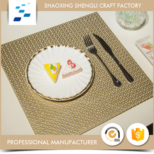 Advertising unique design eco-friendly square waterproof pvc placemat