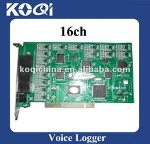 16 lines Telephone voice recording system pci card