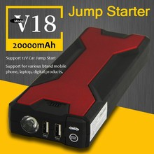 600A Peak 18000mAh Portable Jump Starter Power Bank Car Battery Jump with Dual USB Smart Clamp Charger for SLR Laptop Cell Phone