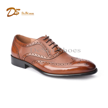 Italy custom hand made brogue oxford leather formal men shoes 2017