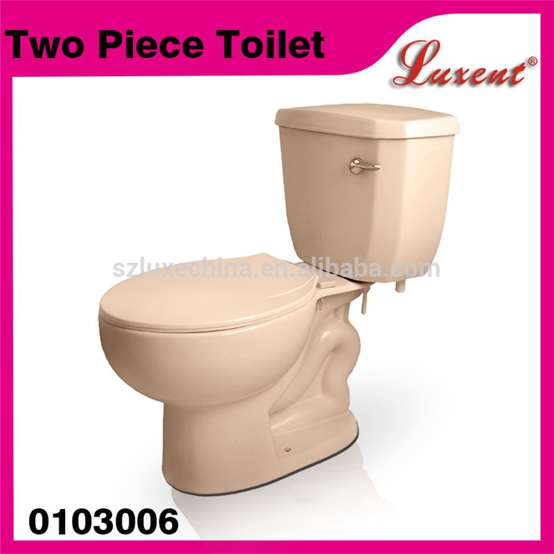 2016 china supplier ceramic side handle colorful two piece toilet