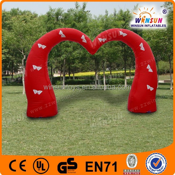 used inflatable decoration garden wedding heart arch designs cheap