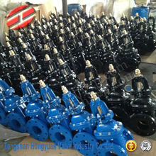 ductile iron rubber wedge flanged gate valves