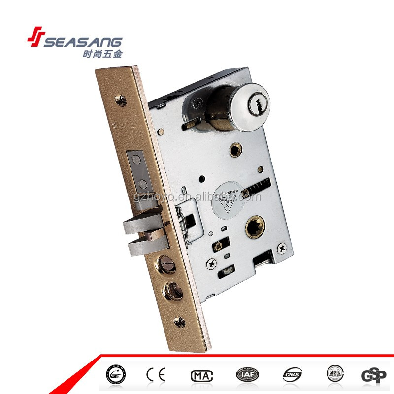 High Security America Design Lock Body Key Cylinder Mortise Lock