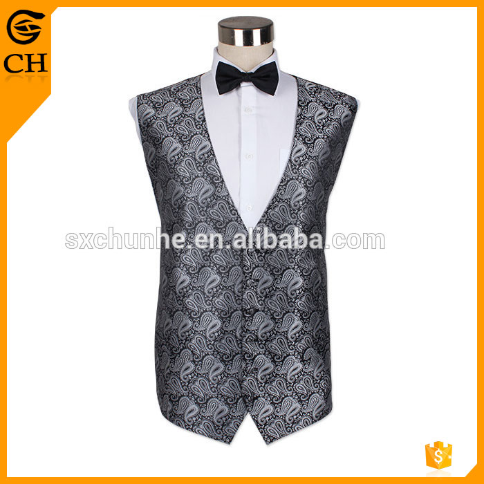 2017 lastest factory polyester party vest for men