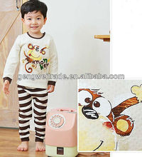 Korean Monkey Pattern Kids Pajamas Set
