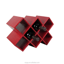Hot new design PU leather wine rack holder storage